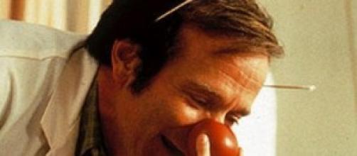 Robin Williams in una scena di Patch Adams.