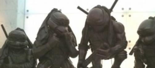 Estatuas de las tortugas en Hong Kong.