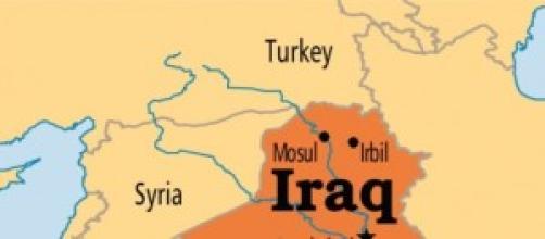Scenario di guerra nel nord dell' Iraq