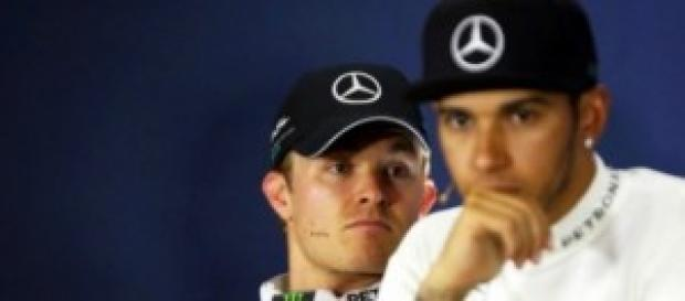 Nico Rosberg e Lewis Hamilton