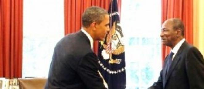 Alpha Condé et Barack Obama