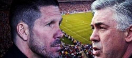 I due allenatori, Simeone ed Ancelotti