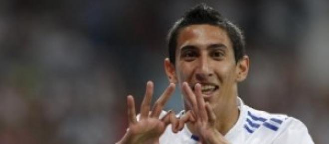Di Maria celebrates scoring