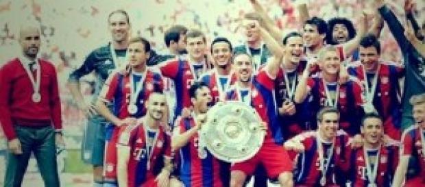 El Bayern celebrando su anterior Bundesliga