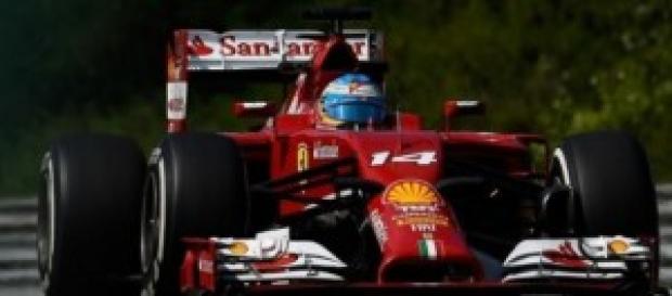 Alonso en el circuito de Spa