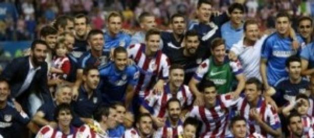 El Atlético celebra la Supercopa