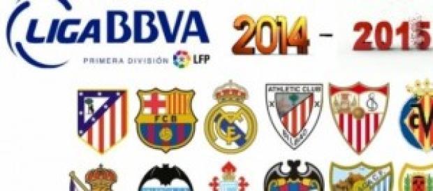 escudos de algunos equipos de la liga bbva 2014/15