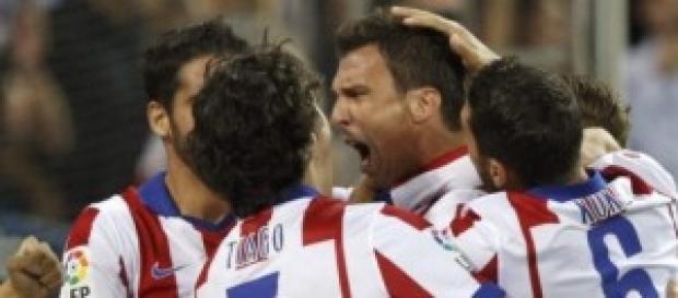 Mandzukic celebra su gol en el partido