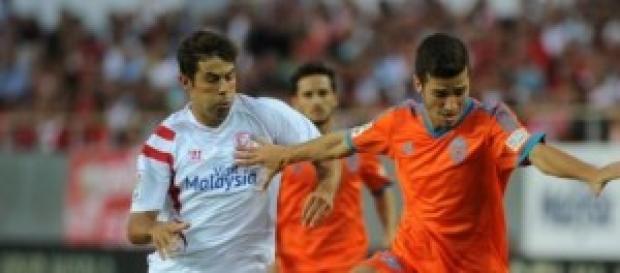 Gayà en el partido contra el Sevilla