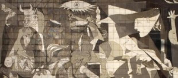 "El famoso cuadro titulado ""Guernica"""