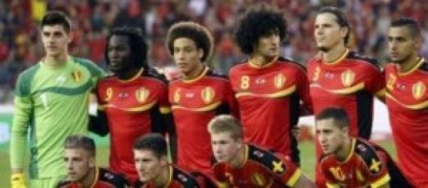 La seleccion belga en Brasil 2014