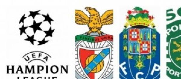 Três clubes portugueses na Champions