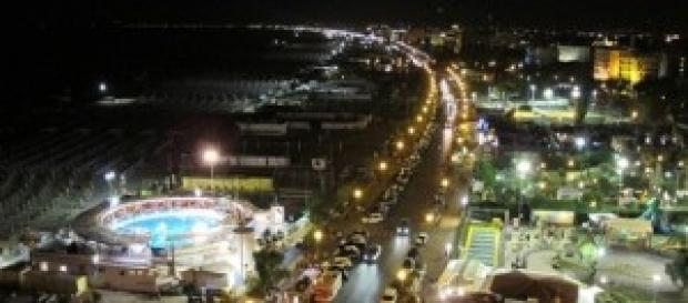 Panorama di Rimini by night