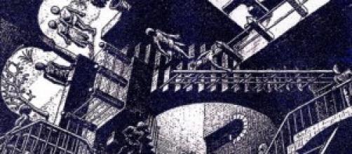 """Particolare di: """"Relatività"""" di M.C. Escher"""