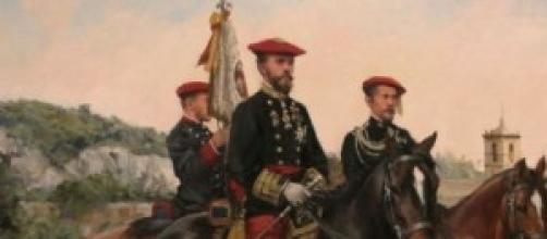 Carlos VII en Estella,por el gran A.Ferrer Dalmau.