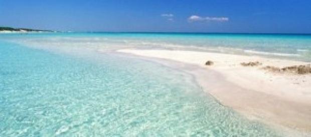 Spiaggia di una località salentina.
