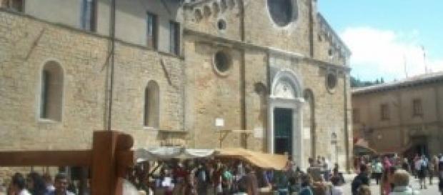 Volterra durante la rievocazione medievale