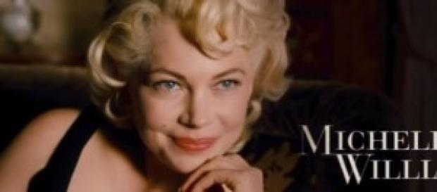 Michelle Williams nei panni di Marilyn Monroe.