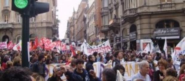 Protesta per i Quota 96