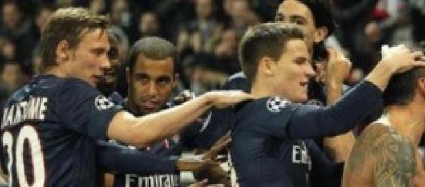 El PSG celebra un gol la pasada campaña.
