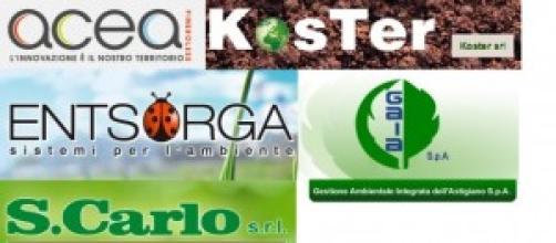 I marchi delle cinque aziende della rete RIUSO