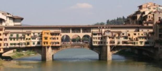 Ponte Vecchio, una veduta sull'Arno