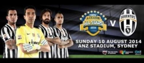 Juventus-All Stars A-League con Del Piero