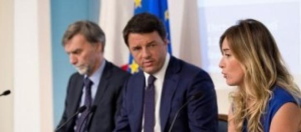 Riforme Boschi, Renzi, Delrio in Millegiorni