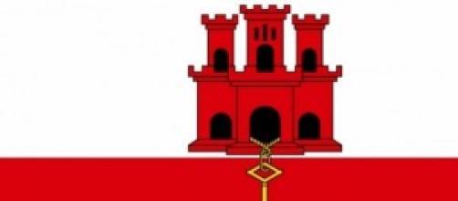 Bandeira de Gibraltar, território britânico