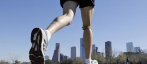 Jogging in una metropoli