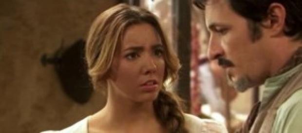 Emilia e Alfonso in crisi per le menzogne di lei.