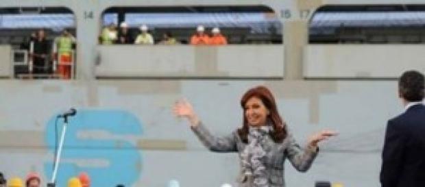 La Presidenta Argentina Cristina Fernández