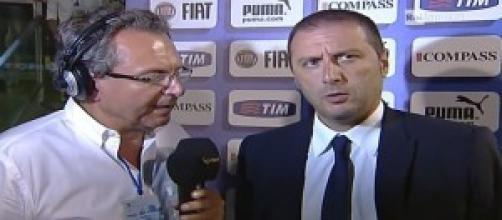 L'allenatore del Bari Devis Mangia