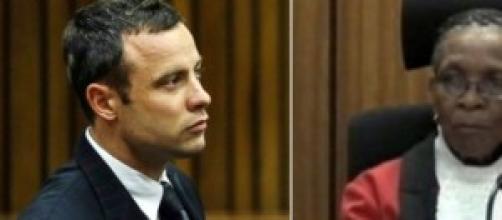 Oscar Pistorius e la giudice Thokozile Masipa
