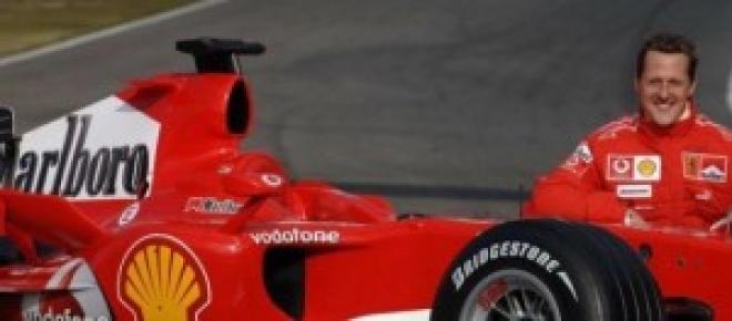 Michael Schumacher posa en mejores tiempos