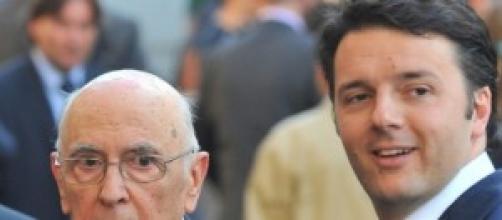 Matteo Renzi con il Presidente della Repubblica
