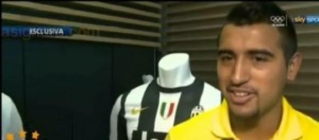 Il centrocampista della Juve Arturo Vidal