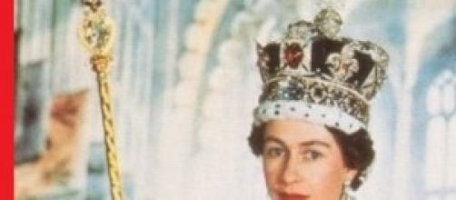 Elisabetta II all' incoronazione