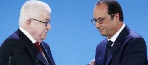Fouad Massoum e Francois Hollande