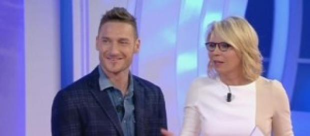 Francesco Totti con Maria a Tu si que vales.