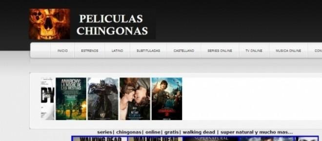 Pantallazo de Peliculaschingonas.com