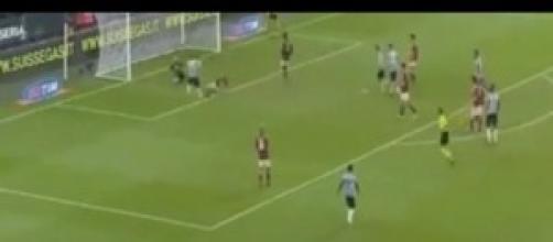 Milan Juventus  0-1 Gol partita di Tevez
