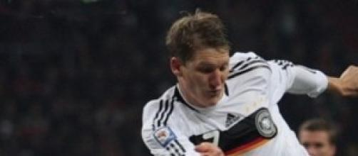 O alemão campeão do mundo, Bastian Schweinsteiger.