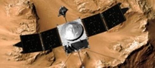 La sonda Maven in orbita marziana.