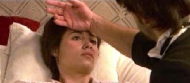 Il Segreto, Maria e Gonzalo si baciano.