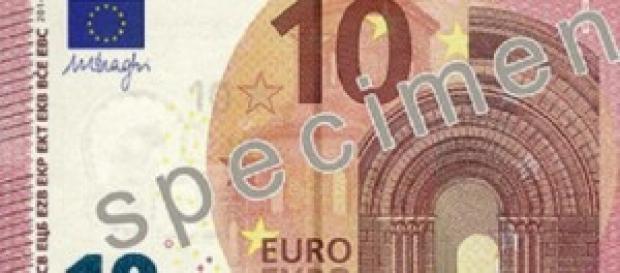 La nuova banconota da 10 euro