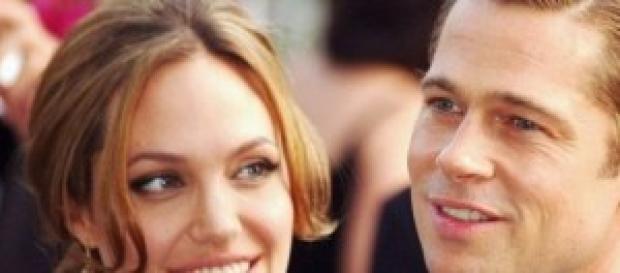Angelina Jolie con su actual marido.