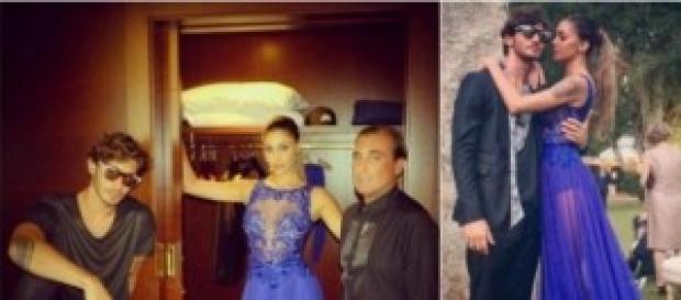 Belen Rodriguez e l'abito sexy delle polemiche.
