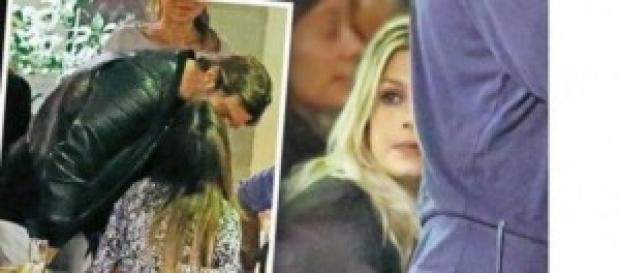 Belen e Stefano, baci sotto gli occhi di Emma.