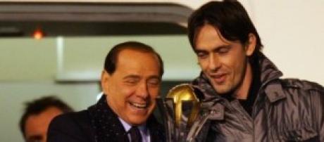 Berlusconi con Inzaghi festeggiano Champions